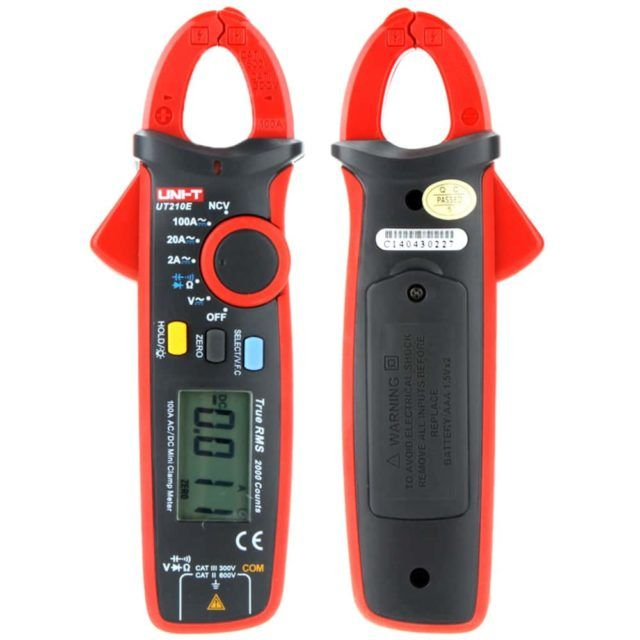 UT210E Mini 100A True RMS Digital Clamp Meter (4)