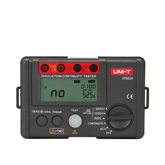 UT502A 2500V Insulation Resistance Tester DAR PI Functions NZ
