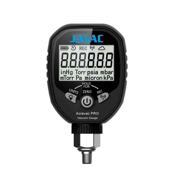 Acravac Pro Refrigeration Digital Vacuum Gauge