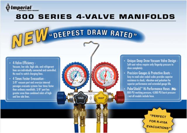 4-Valve Manifolds - Refrigeration Vacuum