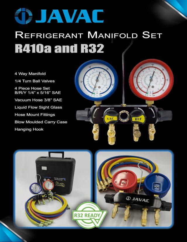 JAVAC R32 Manifold 4 Valve