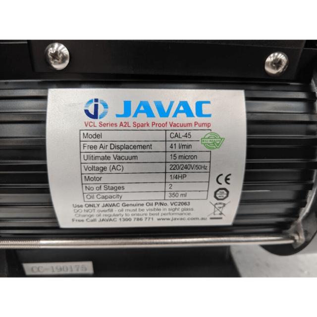 Javac Cal Vacuum Pump Hvac R32 Refrigeration 5