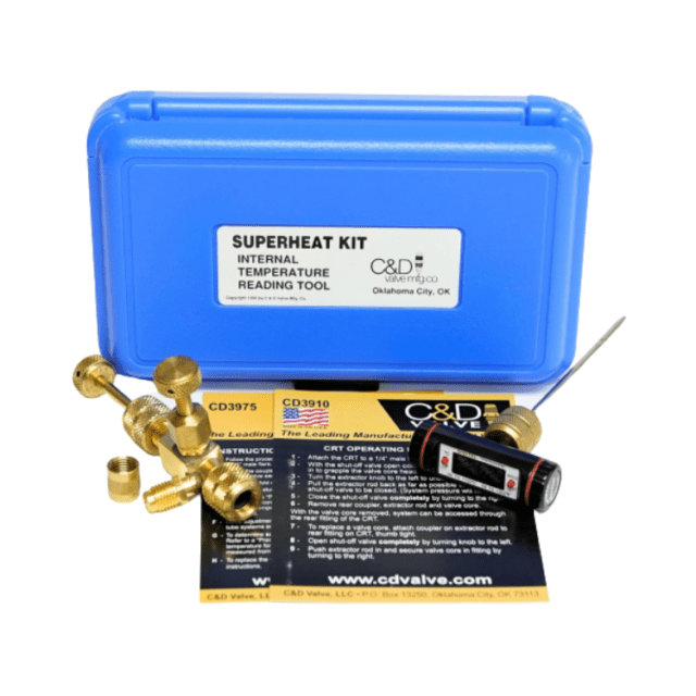 C&D CD3990 Superheat Kit w/ CD3930 (BV-CRT) and CD3975 Thermometer NZ