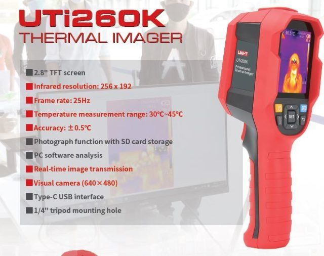 UTi260K Thermal Imager With Real Time PC Transmission Of Body Temperatures NZ