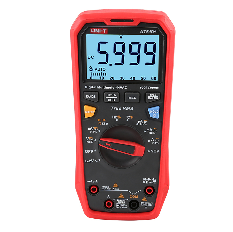 Uni-T UT61D+ 1000V True RMS Digital Multimeter
